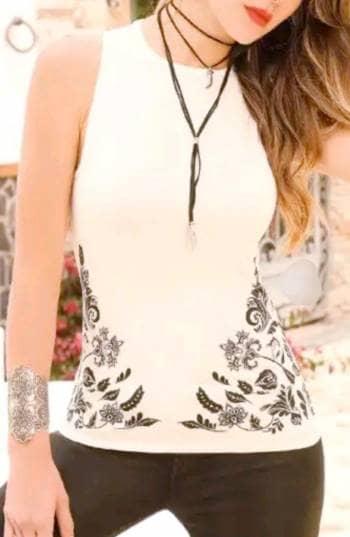 Camisa blanco marfil NUEVA