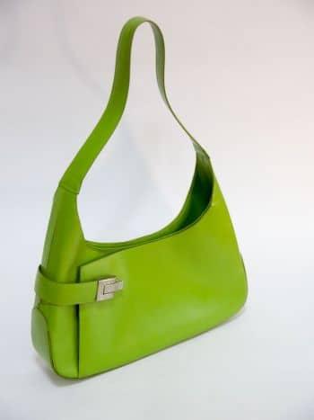 Bolso pequeño de cuero verde