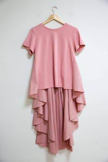 Blusón rosa largo