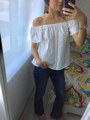 Blusa Hombros Blanca<3