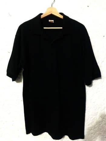 Camisa tipo polo negra - GoTrendier - 64654 26e13cead3e9e