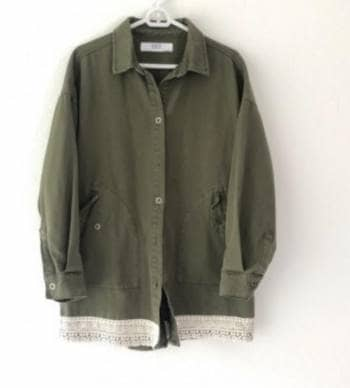 Chaqueta jean verde