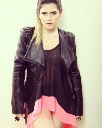 Blusa vestido rosada y negra