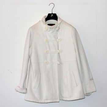 Abrigo blanco crema