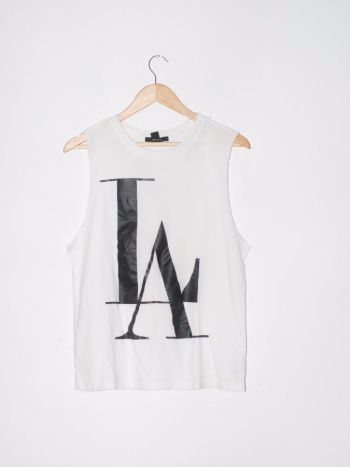 Camisa manga sisa con letras