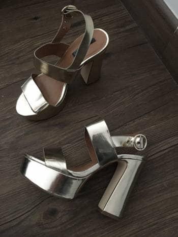 8ef27ea1b3a plataforma Zapatos dorados T ZARA 36 131457 GoTrendier qAwrqv at ...