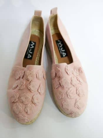 Zapatillas rosadas planas