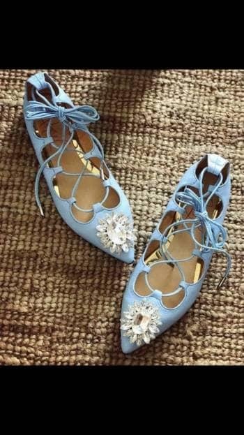 Baletas Azul Diseñador Daniel Alcaraz